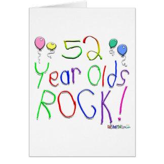 ¡52 años de la roca Tarjeta de felicitación