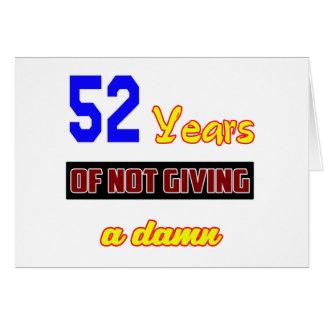 52 años de no dar a tarjeta de felicitación