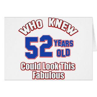52 años del diseño del cumpleaños