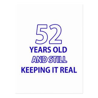 52 años del diseño del cumpleaños postal