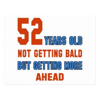 52 años, no consiguiendo calvos postal