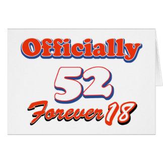 52 años y aún ágil tarjeta de felicitación