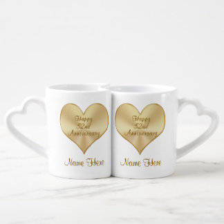 52.as tazas felices del aniversario de boda taza para parejas