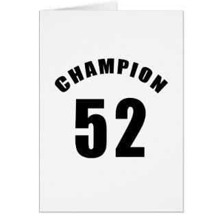 52 diseños del campeón tarjetón