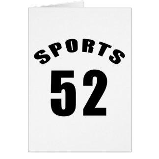 52 diseños del cumpleaños de los deportes tarjeta