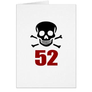 52 diseños del cumpleaños tarjeta