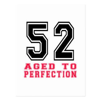52 envejecido a la perfección postal
