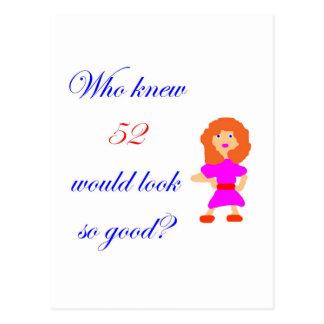 52 miradas tan buenas postal