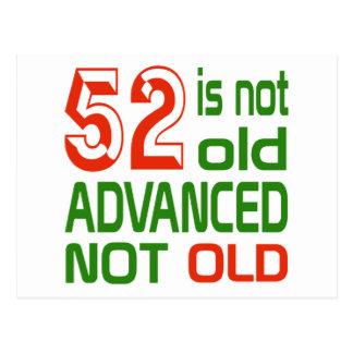52 no es no viejos avanzado viejo postal