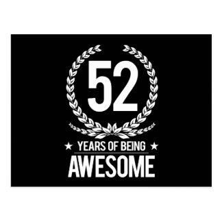52.o Cumpleaños (52 años de ser impresionantes) Postal