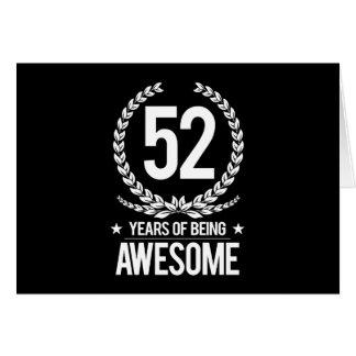 52.o Cumpleaños (52 años de ser impresionantes) Tarjeta De Felicitación