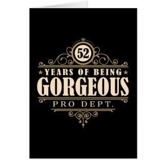 52.o Cumpleaños (52 años de ser magníficos) Tarjeta De Felicitación