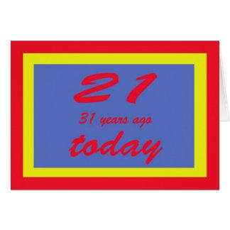 52.o del feliz cumpleaños cincuenta y dos tarjeta de felicitación