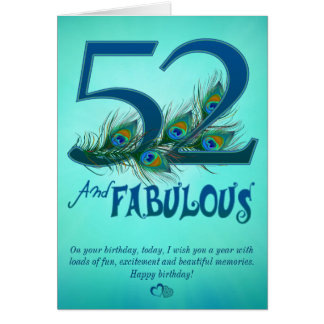 52.o Tarjetas de la plantilla del cumpleaños