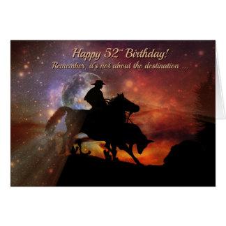 52.o vaquero y buey felices occidentales del tarjeta