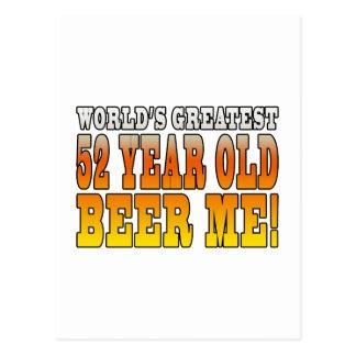 52.os cumpleaños divertidos: Años más grandes de Postal