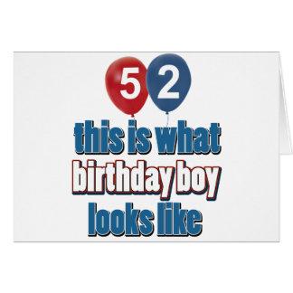 52.os diseños años del cumpleaños felicitacion