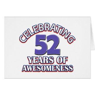 52.os diseños años del cumpleaños tarjeta de felicitación