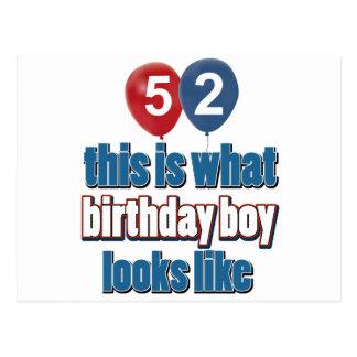 52.os diseños años del cumpleaños postal