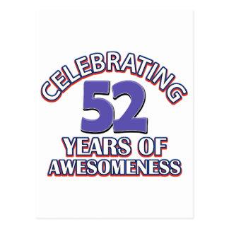 52.os diseños años del cumpleaños postales