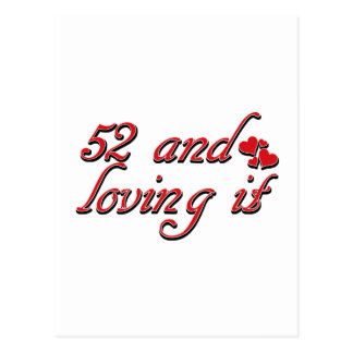 52 y amor de lo postal