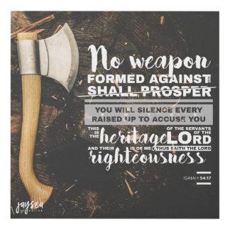 54:17 de Isaías - ninguna arma Cuadro