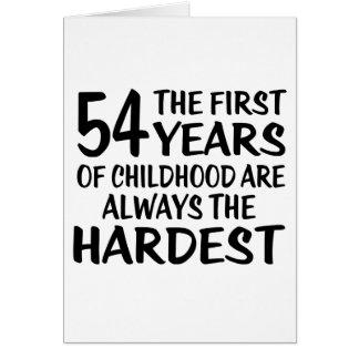54 los primeros diseños del cumpleaños de los años tarjeta