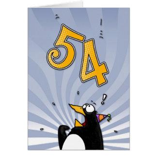 54.o cumpleaños - tarjeta de la sorpresa del