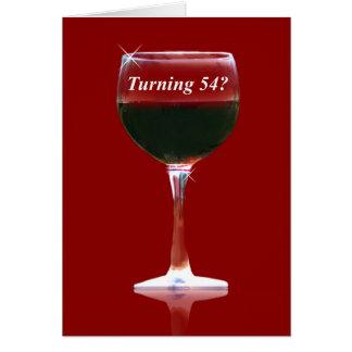 54.o Tarjeta de cumpleaños chistosa del vino