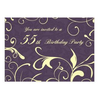 55 as tarjetas de la invitación de la fiesta de cu