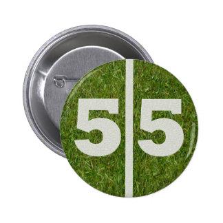55.o Botón de la yarda del fútbol del cumpleaños