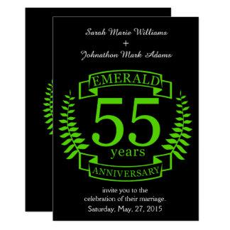 55.o ESMERALDA del ANIVERSARIO de boda Invitación 12,7 X 17,8 Cm