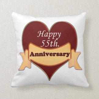 55.o feliz. Aniversario Cojín Decorativo