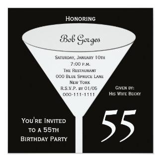 55.o Invitación 55 de la fiesta de cumpleaños en
