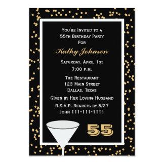 55.o Invitación 55 de la fiesta de cumpleaños y