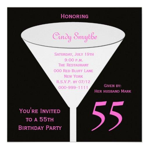 55.o Invitación de la fiesta de cumpleaños -- 55.o