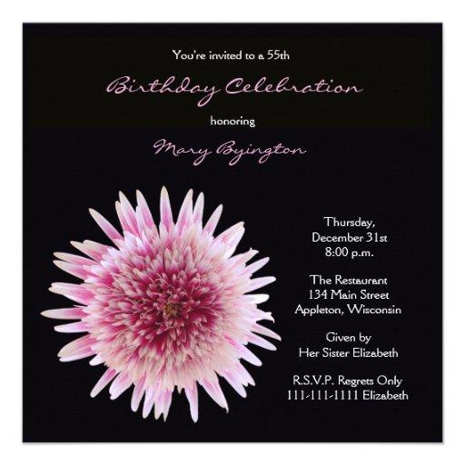 55.o Invitación de la fiesta de cumpleaños -- Gerb