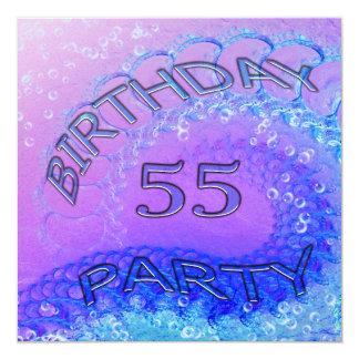 55.o Invitación, extracto y bubb de la fiesta de Invitación 13,3 Cm X 13,3cm