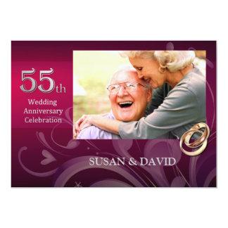 55.o Invitaciones de la fiesta de aniversario del Invitación 12,7 X 17,8 Cm