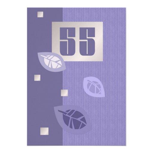 55.o Invitaciones del personalizado de la celebrac Invitación Personalizada