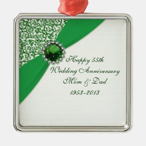 55.o Ornamento del aniversario de boda Adorno