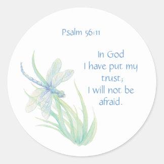 56:11 del salmo de la escritura de la biblia no pegatina redonda