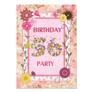 56.a invitación de la fiesta de cumpleaños con el