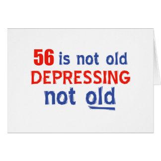 56 años de diseños del cumpleaños tarjetas