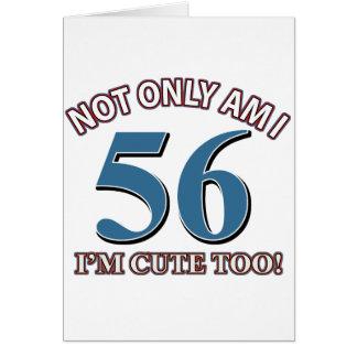 56 años de diseños del cumpleaños tarjeta de felicitación