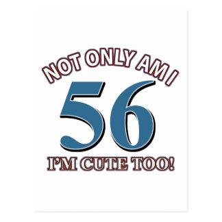 56 años de diseños del cumpleaños postal