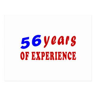 56 años de experiencia tarjeta postal
