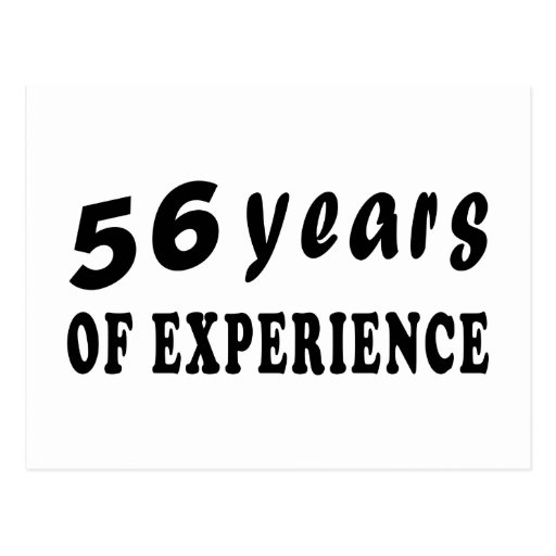 56 años de experiencia postales