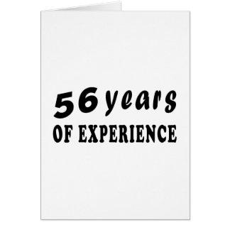 56 años de experiencia tarjetas