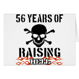 56 años de infierno de aumento tarjeta de felicitación